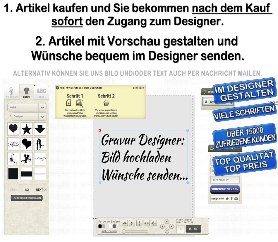Schmuck anh nger mit ihrer gravur bild text fotogravur id for Designer geschenke shop