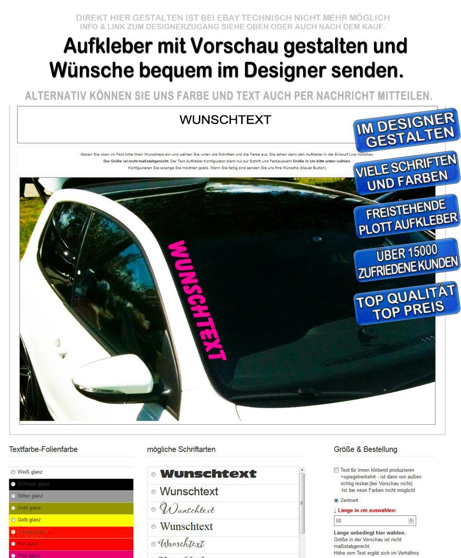 Frontscheiben Aufkleber Oem Xxl Jdm Wunschtext Sticker Gestalten