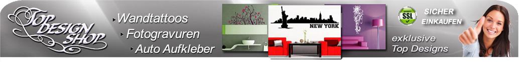 topdesignshop Wandtattoo Aufkleber und Gravuren Shop
