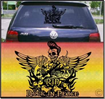 king rock peace auto aufkleber
