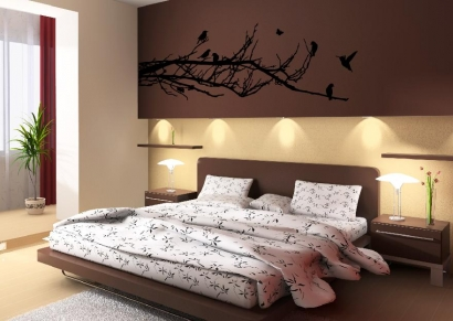 wandtattoos baumranke ast v gel wandtattoo wand aufkleber. Black Bedroom Furniture Sets. Home Design Ideas
