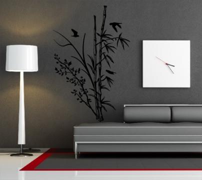 pflanzen wandtattoo bambus wandtattoos wand aufkleber. Black Bedroom Furniture Sets. Home Design Ideas