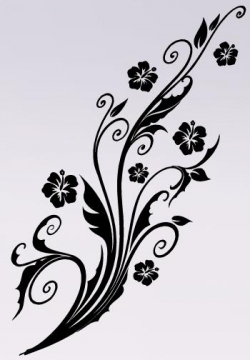 Hibiscus Blume Blumenranke Schone Wandtattoo Wandtattoos