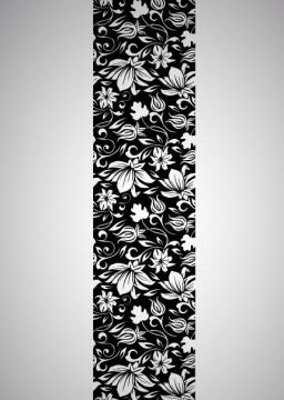 wandbanner blumen wandtattoos wandaufkleber aufkleber. Black Bedroom Furniture Sets. Home Design Ideas