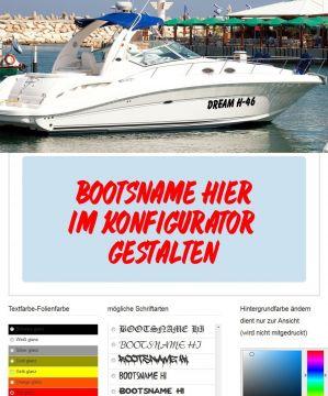 Bootsaufkleber bootsnamen klebebuchstaben for Bootsaufkleber design