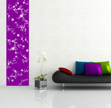 blumen wandbanner sticker wandtattoo wandtattoos wohnzimmer dekoration. Black Bedroom Furniture Sets. Home Design Ideas