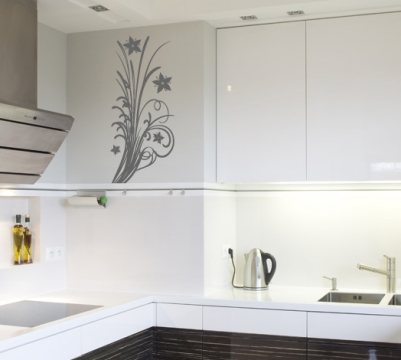 hibiscus pflanze wandtattoo blumen ranke wandaufkleber. Black Bedroom Furniture Sets. Home Design Ideas