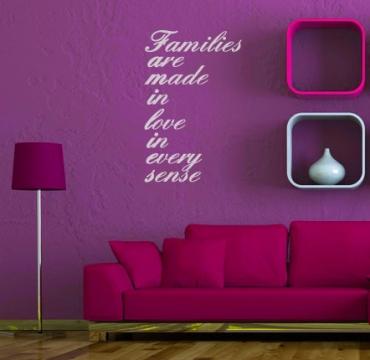 wallsticker wandspruch aufkleber familie wandtattoo in. Black Bedroom Furniture Sets. Home Design Ideas