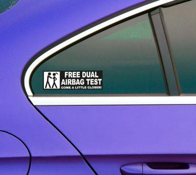 Airbag Heckscheiben Fun Sticker Lustiger Test Auto Aufkleber