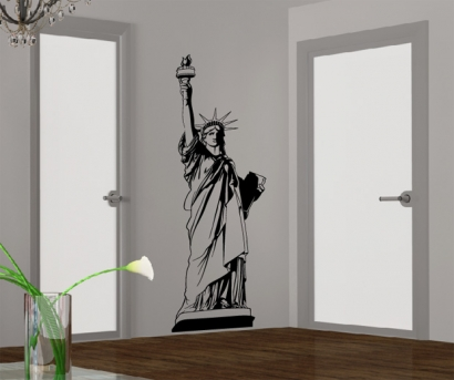 edles wandtattoo freiheitsstatue aufkleber new york wandaufkleber. Black Bedroom Furniture Sets. Home Design Ideas
