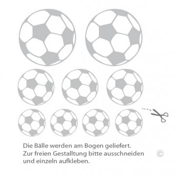 Fu ball wandtattoo ball sport wandaufkleber kinderzimmer aufkleber - Wanddeko fussball ...