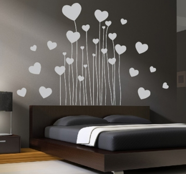 herzen aufkleber liebe wandtattoo wandtattoos wandaufkleber. Black Bedroom Furniture Sets. Home Design Ideas