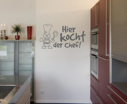 koch lustiges küche wandtattoo wandtattoos und wandaufkleber im ... - Wandschutzfolie Küche