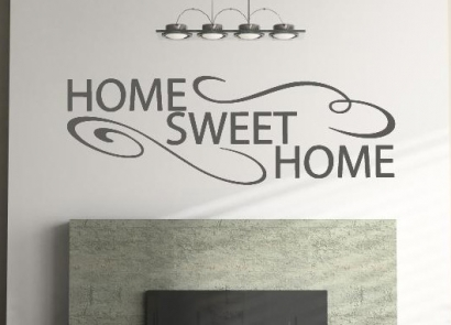 home sweet wandsticker wandtattoo wandtattoos wandaufkleber aufkleber. Black Bedroom Furniture Sets. Home Design Ideas