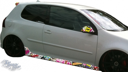 Autofolie Sticker Bomb Car Wrapping Tuning 3d selbstklebende Folierung