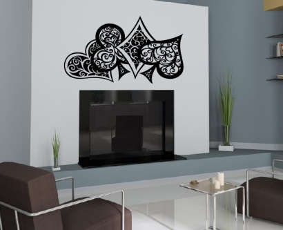 poker karten aufkleber wandtattoo wandtattoos wandaufkleber. Black Bedroom Furniture Sets. Home Design Ideas