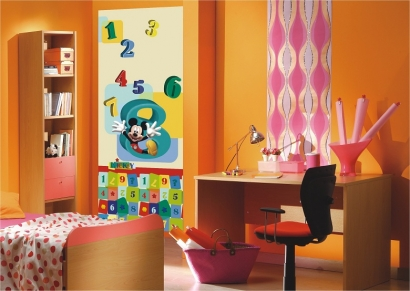 g nstige fototapeten kinderzimmer bunte mickey mouse bildtapeten micky. Black Bedroom Furniture Sets. Home Design Ideas