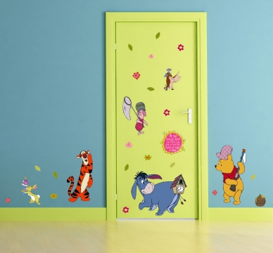 kinderzimmer wandsticker disney winnie pooh wandtattoos. Black Bedroom Furniture Sets. Home Design Ideas
