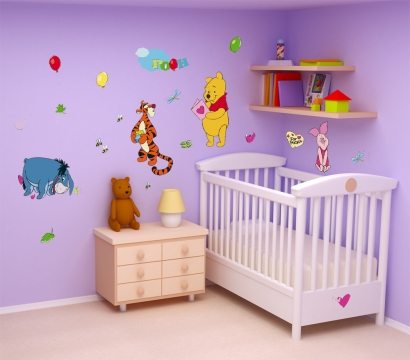 Winnie pooh aufkleber kinderzimmer wandtattoos disney dekoration wandsticker - Kinderzimmer dekoration ...
