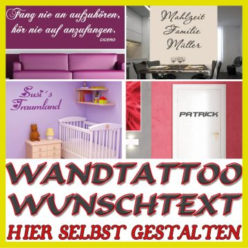 wandtattoo selber gestalten texte und wandsticker spr che. Black Bedroom Furniture Sets. Home Design Ideas
