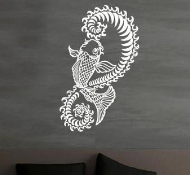 wandtattoo koi wandtattoos fisch wandtattooaufkleber. Black Bedroom Furniture Sets. Home Design Ideas