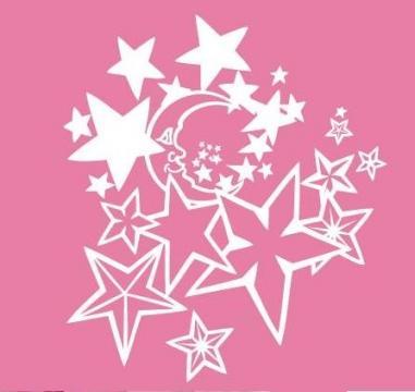 Wandtattoo Kinderzimmer Wandtattoos Mond und Sterne wandsticker