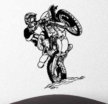 Wandtattoos wandaufkleber wandtattoo motorcross maschine aufkleber
