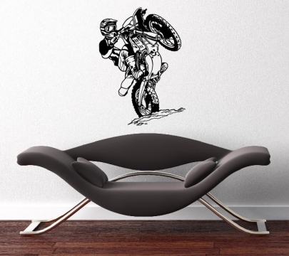motorcross maschine aufkleber wandtattoo wandtattoos. Black Bedroom Furniture Sets. Home Design Ideas