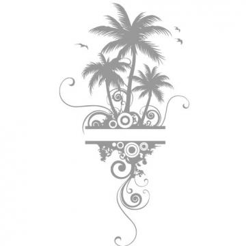 palmen palme wandtatoo wohnzimmer dekoration wandtattoos wandaufkleber. Black Bedroom Furniture Sets. Home Design Ideas
