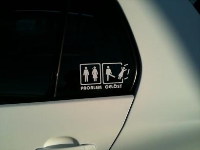 Problem Gelöst Aufkleber Lustiger Auto Fun Sticker