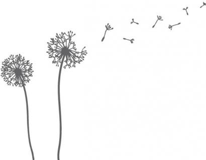 pusteblumen wandtattoos und pusteblume wandsticker. Black Bedroom Furniture Sets. Home Design Ideas