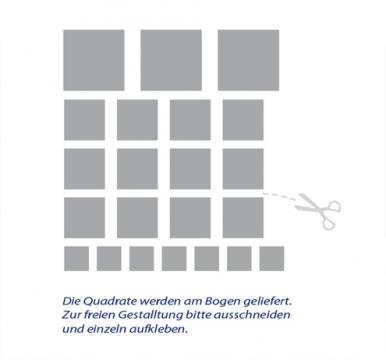 Wohnzimmer Wandtattoos Bestellen Quadrate Retro Wurfel Dekoration