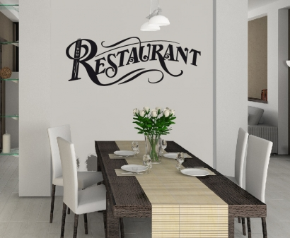 wandtattoo wandtattoos wandaufkleber restaurant aufkleber. Black Bedroom Furniture Sets. Home Design Ideas