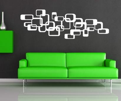 retro wandtattoo cubes dekoration würfel wandtattoos wohnzimmer