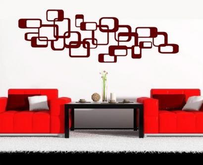 retro wandtattoo cubes dekoration w rfel wandtattoos wohnzimmer wandsticker. Black Bedroom Furniture Sets. Home Design Ideas