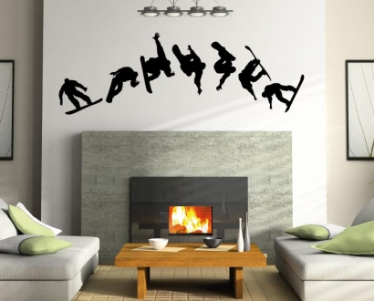 snowboard snowboarder wandtattoo wandtattoos und wandaufkleber im online shop bestellen wand. Black Bedroom Furniture Sets. Home Design Ideas