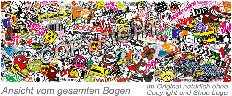 Sticker bomb folie car wrapping stickerbomb klebefolie for Klebefolie bunt