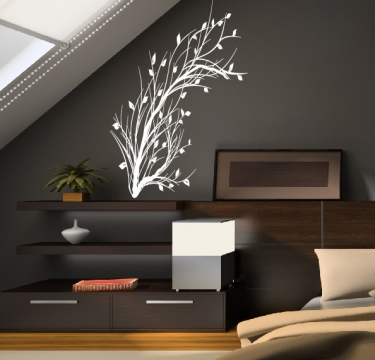 pflanze strauch natur deco wandsticker wandtattoo wandaufkleber. Black Bedroom Furniture Sets. Home Design Ideas
