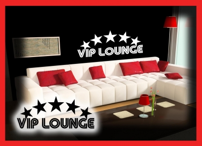 vip lounge wohnzimmer wandtattoo wandtattoos wand aufkleber. Black Bedroom Furniture Sets. Home Design Ideas