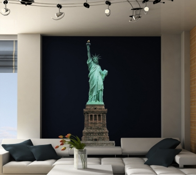freiheitsstatue wandtattoo new york deko wandsticker liberty wandtattoos ny. Black Bedroom Furniture Sets. Home Design Ideas