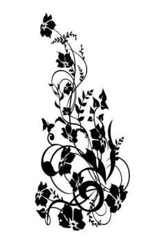 hibiskus wandtattoo wandbild und blumen bl ten wandsticker. Black Bedroom Furniture Sets. Home Design Ideas
