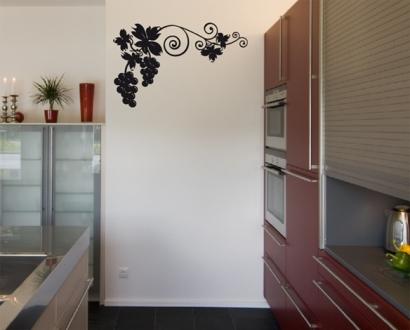 k chen wandtattoo wein aufkleber wandtattoos wandaufkleber. Black Bedroom Furniture Sets. Home Design Ideas