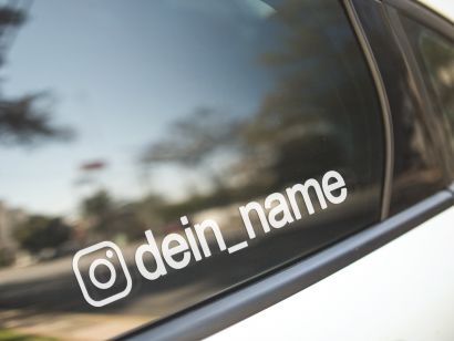 Aufkleber Instagram Logo + Namen günstig im Set kaufen