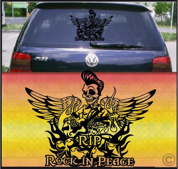 King Rock Car Sticker Decal Gitarre Fun Aufkleber