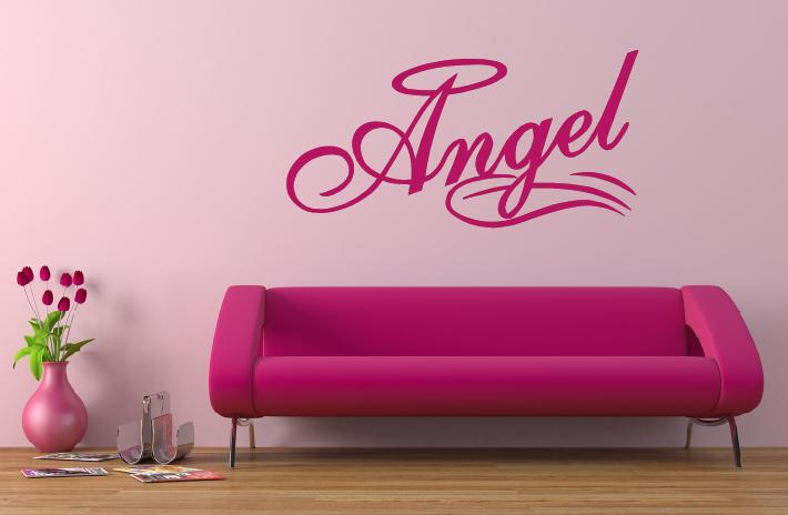 angel wandtattoo wandtattoos wandaufkleber online shop. Black Bedroom Furniture Sets. Home Design Ideas