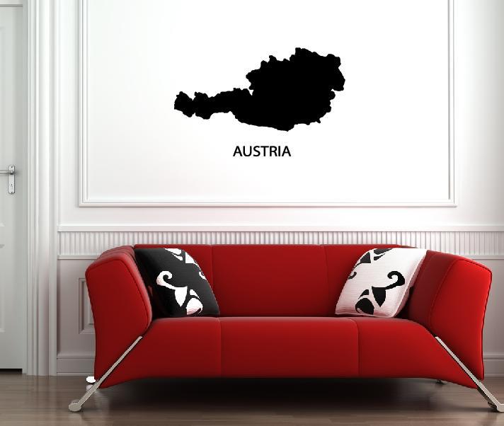 Wandtattoos österreich Karte
