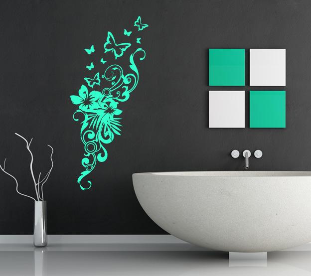 Wandtattoos Wandbilder Wandtattoo Blumenranke Schwarz Wohnzimmer Tv Schmetterling Ornament Deko S Mobel Wohnen A2privathospital Dk