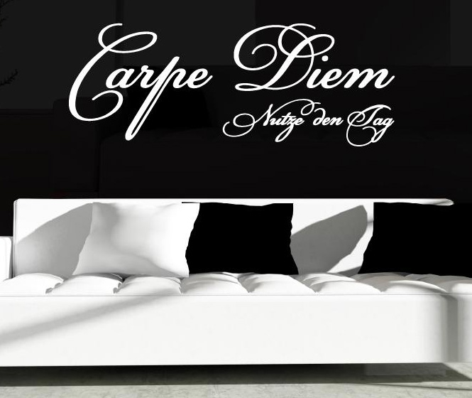 wandtattoo wandtattoos carpe diem nutze tag wand aufkleber. Black Bedroom Furniture Sets. Home Design Ideas