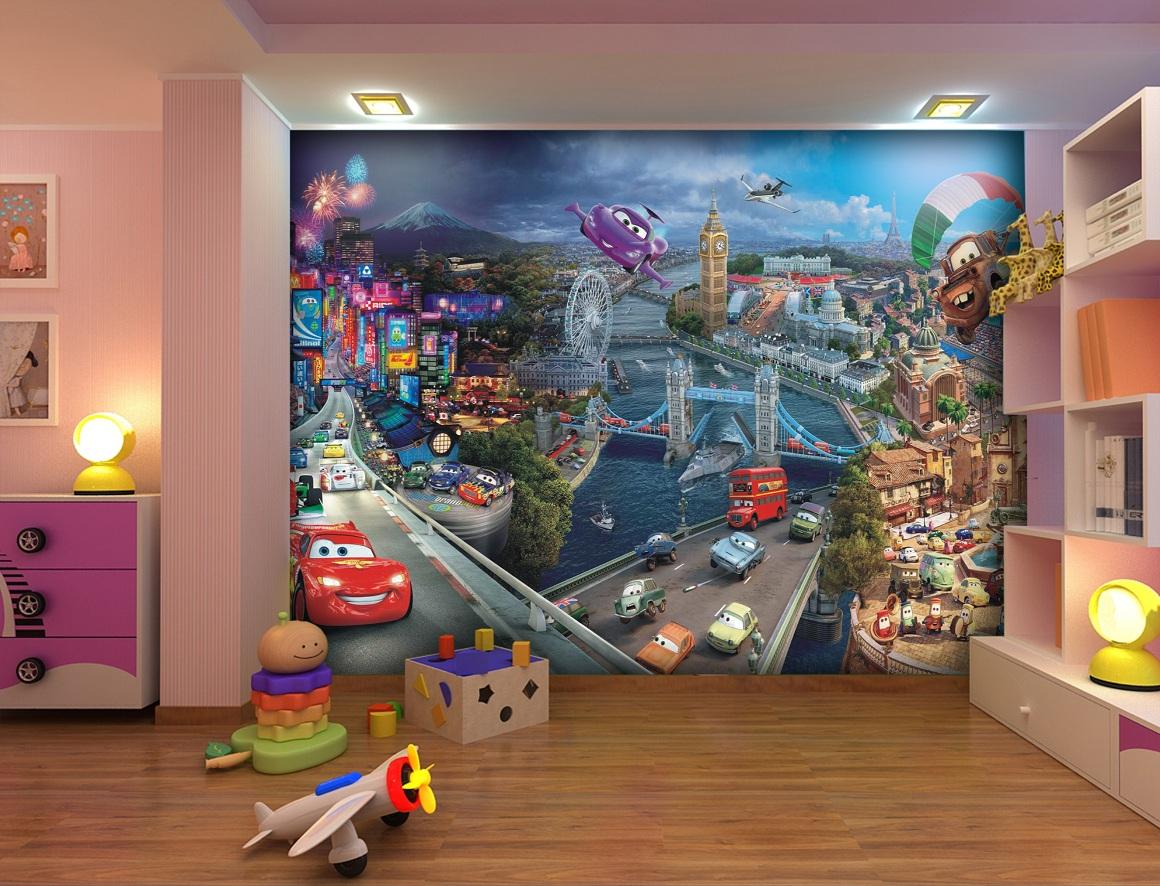 Cars Kinderzimmer Fototapeten | günstige Tapeten für Kinder mit ...