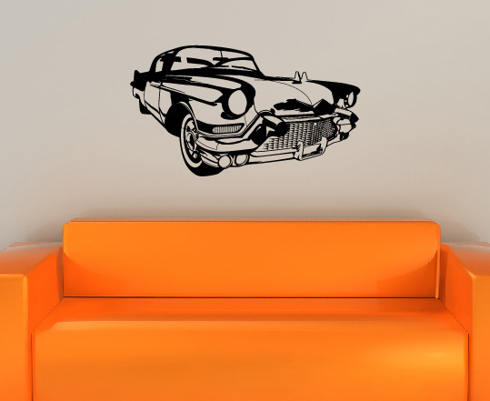 classic car oldtimer auto wandsticker wandtattoo wandaufkleber. Black Bedroom Furniture Sets. Home Design Ideas